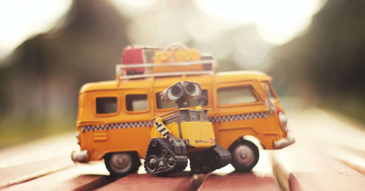 A close up of a toy truck